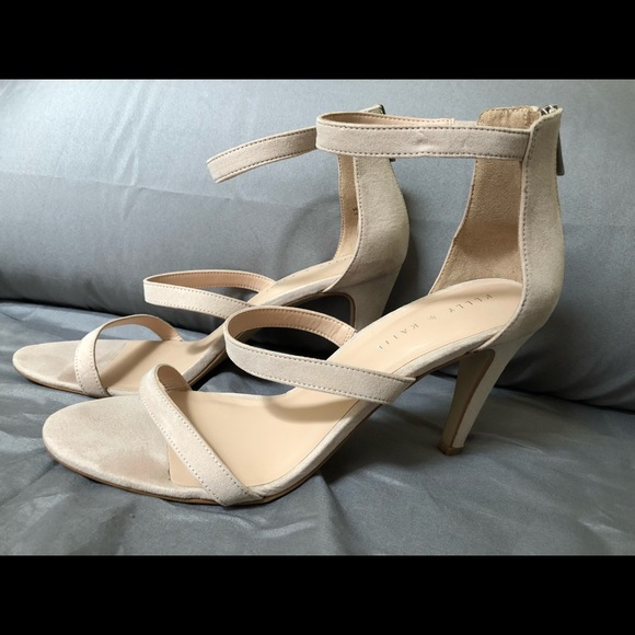 384a0ccd8 Kelly   Katie Shoes - Kelly   Katie Taupe Suede Heels Courtnee Sandal